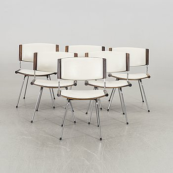 A SET OF SIX ND150 BADMINTON CHAIR BY NANNA DITZEL FOR POUL KOLDS SAVVÆRK.