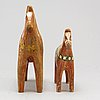 Two wooden horses. first half of the 20th century
