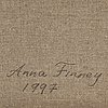 Anna finney, oil on canvas, signed and dated 1997 on verso.