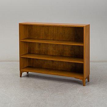 An elm veneered Swedish Modern bookcase, 1940's.