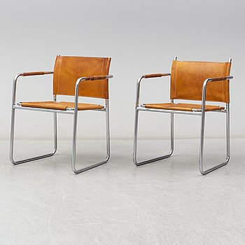 A pair of 'Amiral' armchairs by Karin Mobring, IKEA.