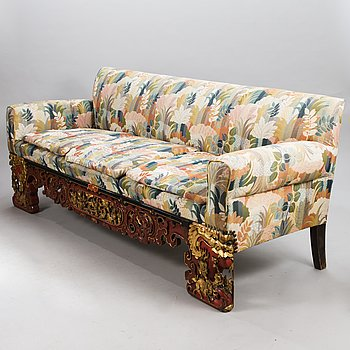 SOFA, remade from a Chinese bed, early 20th century.