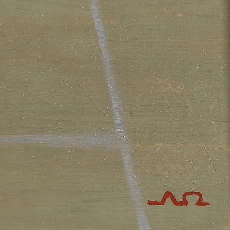 Arne Ödberg, oil on åanel signed with monogram. dated  54 verso
