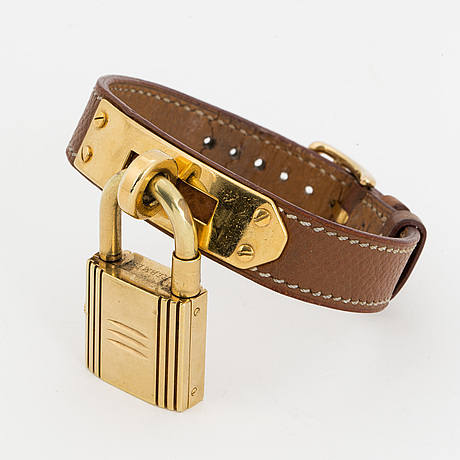 "HermÈs, wristwatch, ""kelly lock""."