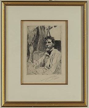 ANDERS ZORN, etching, 1897, signed.