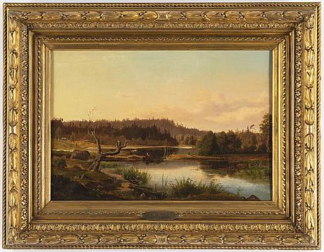 Gustaf rydberg, olja på duk, signerad