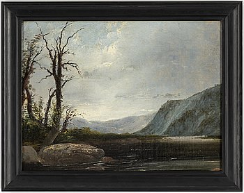 UNKNOWN ARTIST, possibly England 18/19th Century, oil on canvas/paper-panel, signed FK.