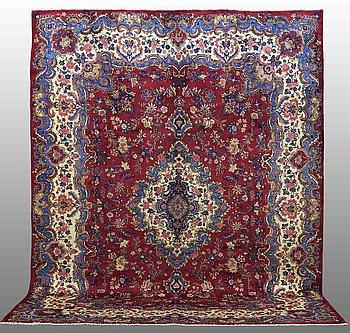 A CARPET, Mashad, signed, ca 387 x 306 cm.