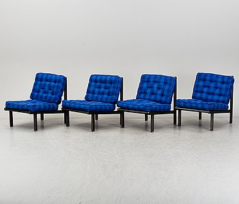 FLORENCE KNOLL, Four second half of the 20th century easy chairs by Nordiska Kompaniet.