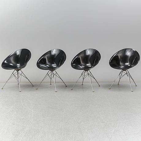 """Philippe starck, stolar, fyra stycken, """"eros"""", för kartell, italien"""