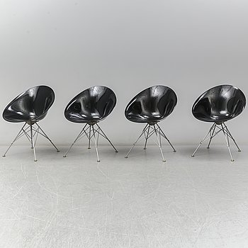 PHILIPPE STARCK, four 'Eros' chairs, for Kartell, Italy.