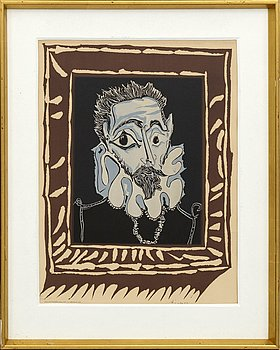 PABLO PICASSO, after lithograph in colours singed in print and numbered 73/2000.