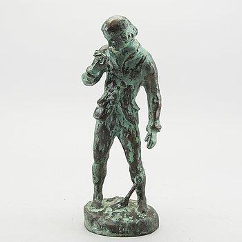 "CARL ELDH, bronze, ""Carl von Linné"" signed."