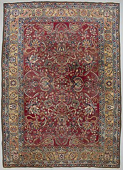 A CARPET, semi-antique Mashad, ca 438 x 304 cm.