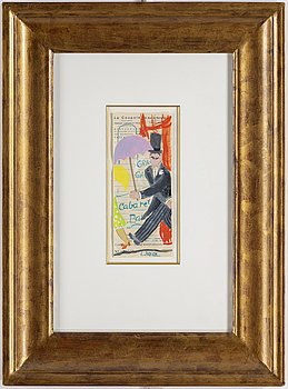 LENNART JIRLOW, watercolour/gouache, signed.