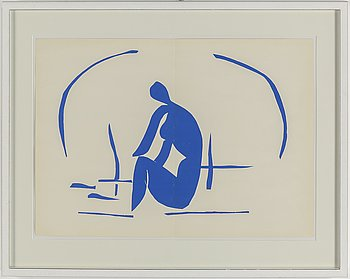 HENRI MATISSE, after. Lithograph in colours, from  Verve Volume IX, No 35-36.