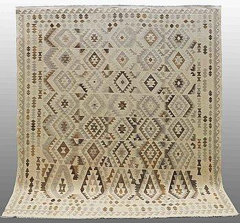 A carpet, Kilim, ca 346 x 270 cm.