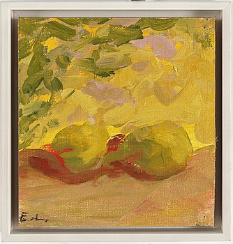 EVERT LUNDQUIST, oil on canvas mounted on board, signed.