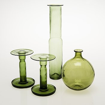 NANNY STILL Four Neptuna Glass Objects, Riihimäen Lasi Oy, 1965-66.