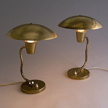 Two 'EV 60' table lamps for Itsu, Finland.