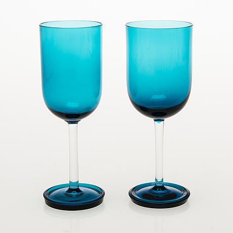 """Nanny still """"harlekin"""" vinsglas, 11 st, riihimäen lasi oy, 1950-60-tal."""
