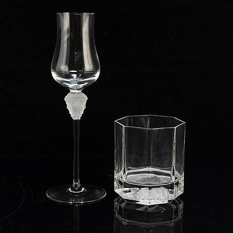 Fifteen 'medusa' glasses by versace for rosenthal.