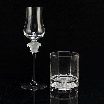 "ROSENTAHL, glasservisdelar,  11 + 4st, ""Medusa"", Versace för Rosenthal."