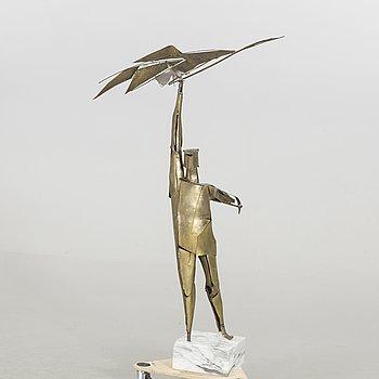 OKÄND KONSTNÄR, skulptur, mässing.