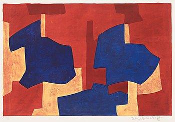 "673. Serge Poliakoff, ""Composition jaune, bleue et rouge""."
