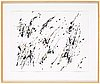 Henri michaux, ink on paper signed hm, executed 1980.