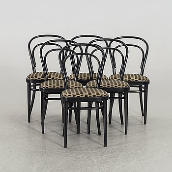 A SET OF SIX THONET BENTWOOD CHAIRS.