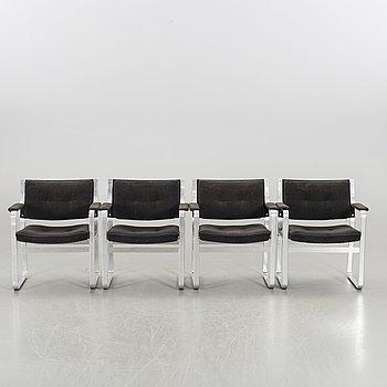 KARL ERIK EKSELIUS, four 'Mondo' armchairs, JOC Vetlanda Sweden, 1975.