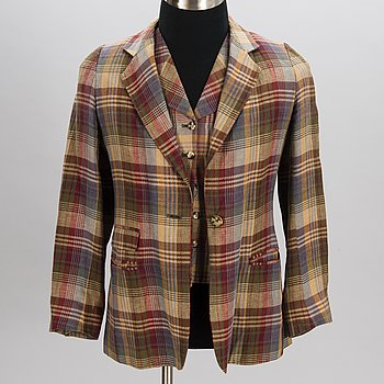 MULBERRY Vintage Blazer and Four Vests.