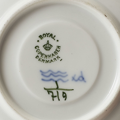 "Kaffeservis, 84 delar, porslin, ""musselmalet"", royal copenhagen, danmark, 1900 talets andra hälft"