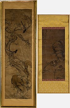 Two paintings, Qing dynasty.