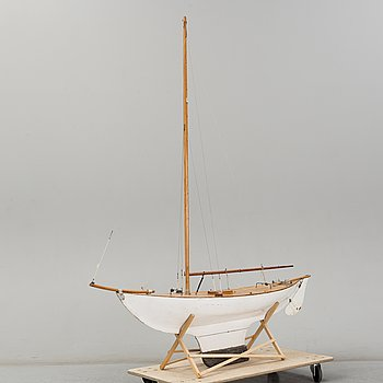 A mid 20th centry model of a ship.
