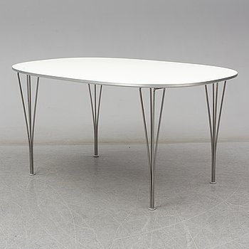 "BRUNO MATHSSON & PIET HEIN, table, ""Superelips"", Fritz Hansen, Denmark, 2013."