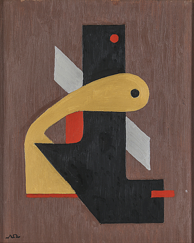 Arne ödberg, oil on panel, signed with monogram. dated -54 verso.