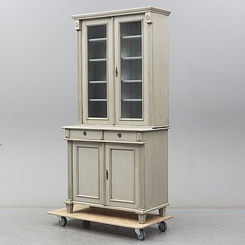 A second half of the 19th century painted display cabinet.