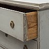 A mid 19th century painted chest of drawers
