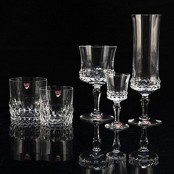INGEBORG LUNDIN, a 58 part glass service, 'Silvia', for Orrefors, second half of the 20th century.