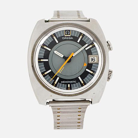 Omega, seamaster, memomatic (- swiss made -), wristwatch, 40 x 38 (43) mm.