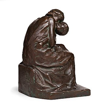 THEODOR LUNDBERG, Sculpture Brons. Signed and dated 1909. Foundry mark. Height 30 cm.