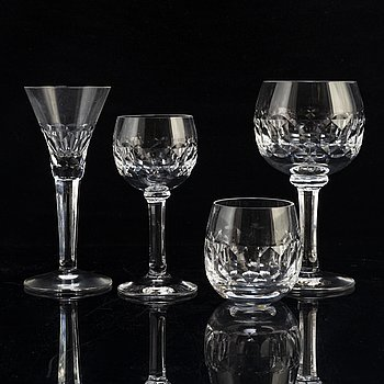 SIGURD PERSSON, a 42 piece glass service 'Gripsholm' Kosta Boda.