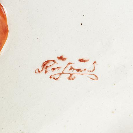 Alf wallander, kräftservis, 9 delar, flintgods, rörstrand, tidigt 1900 tal