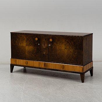A Swedish birch veneered sideboard, 1930's.