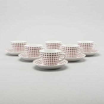 STIG LINDBERG,a set of six coffee cups Eva.