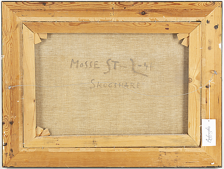 Mosse stoopendaal, oil on canvas, signed and  dated 1941.