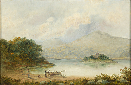 Onknown artist, 19th century, oil on canvas/panel, signed d mackenzie.