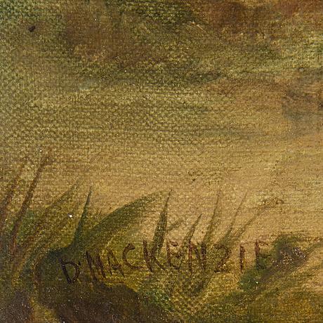 OkÄnd konstnÄr, 1800-tal, olja på duk/pannå, signerad d mackenzie.